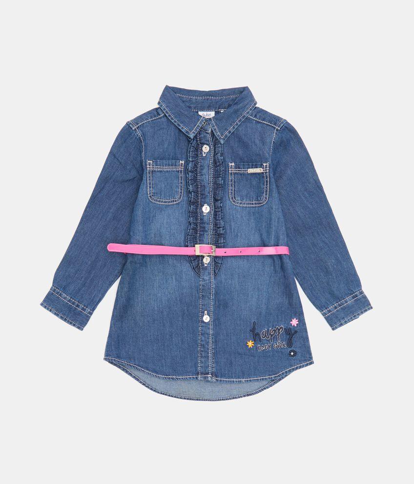 Camicia in denim leggero neonata double 1