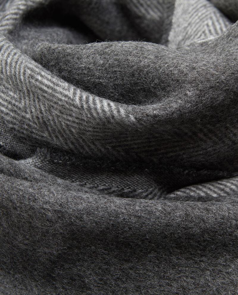 Sciarpa sfrangiata inserto spigato