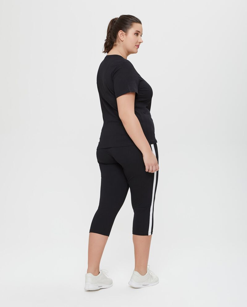 T-shirt in puro cotone con lettering Fitness Curvy