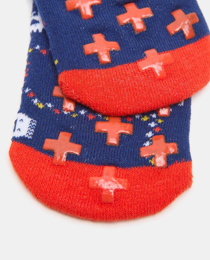 Bipack con 2 paia di calzini antiscivolo in cotone organico bambino single tile 1