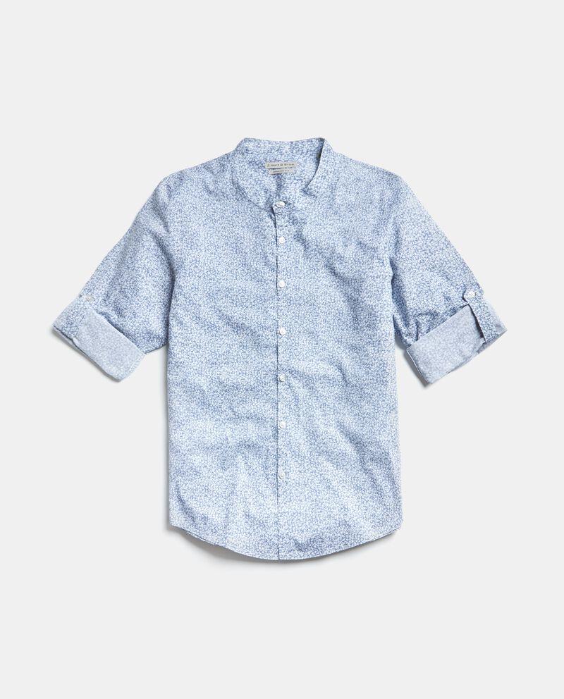 Camicia in puro cotone in fantasia
