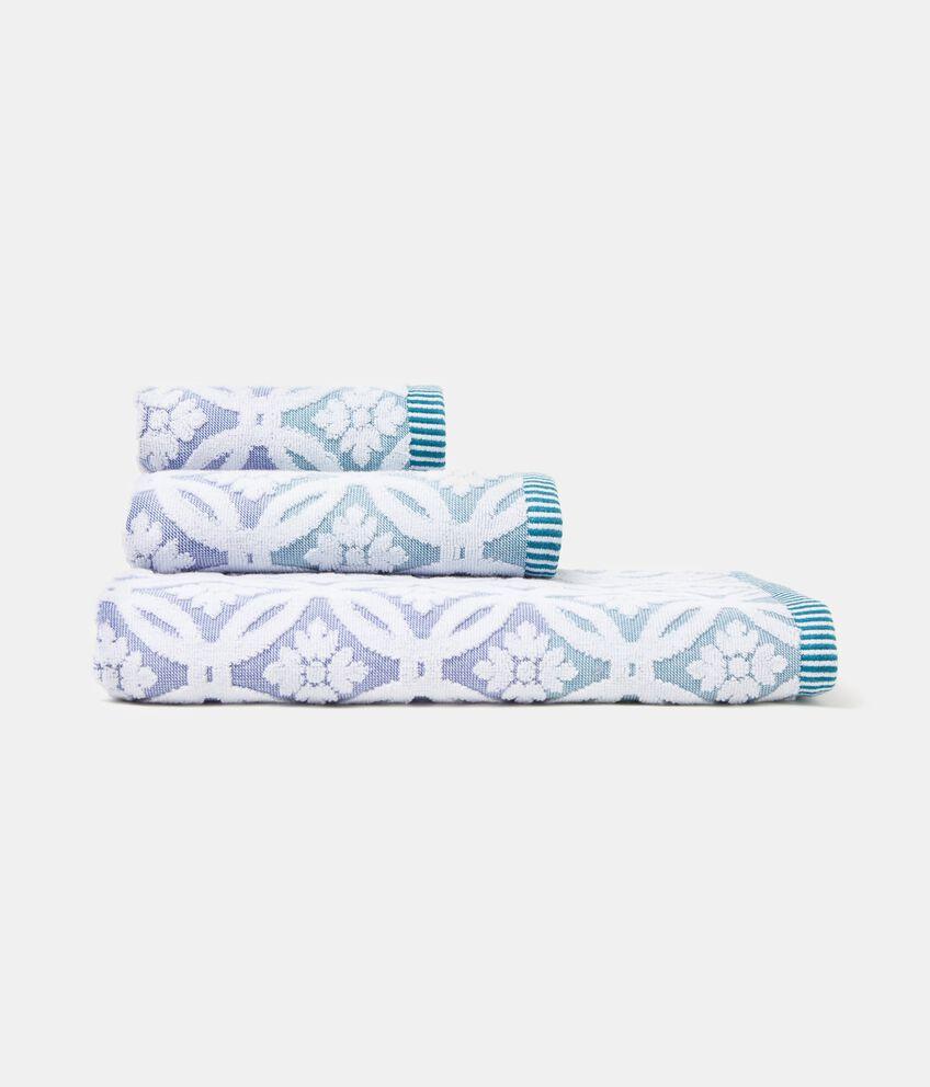 Asciugamano con decoro piastrelle