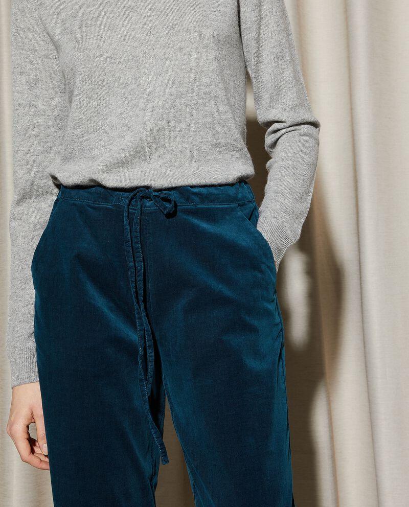 Pantaloni joggers con effetto velluto donna