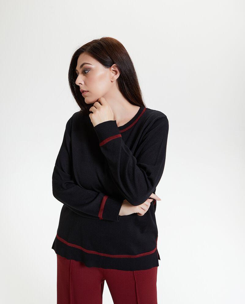 Maglione con profili a contrasto Curvy donna