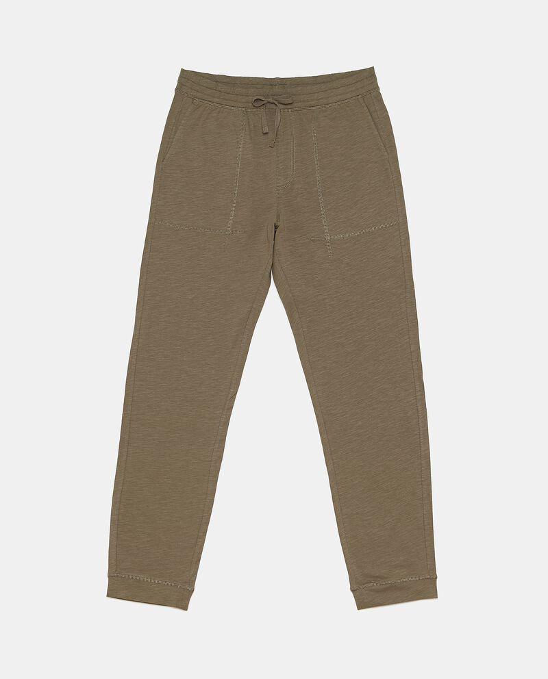 Pantaloni lunghi sportivi in puro cotone uomo