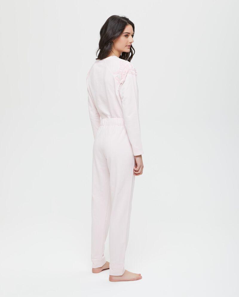 Pantaloni pigiama tinta unita