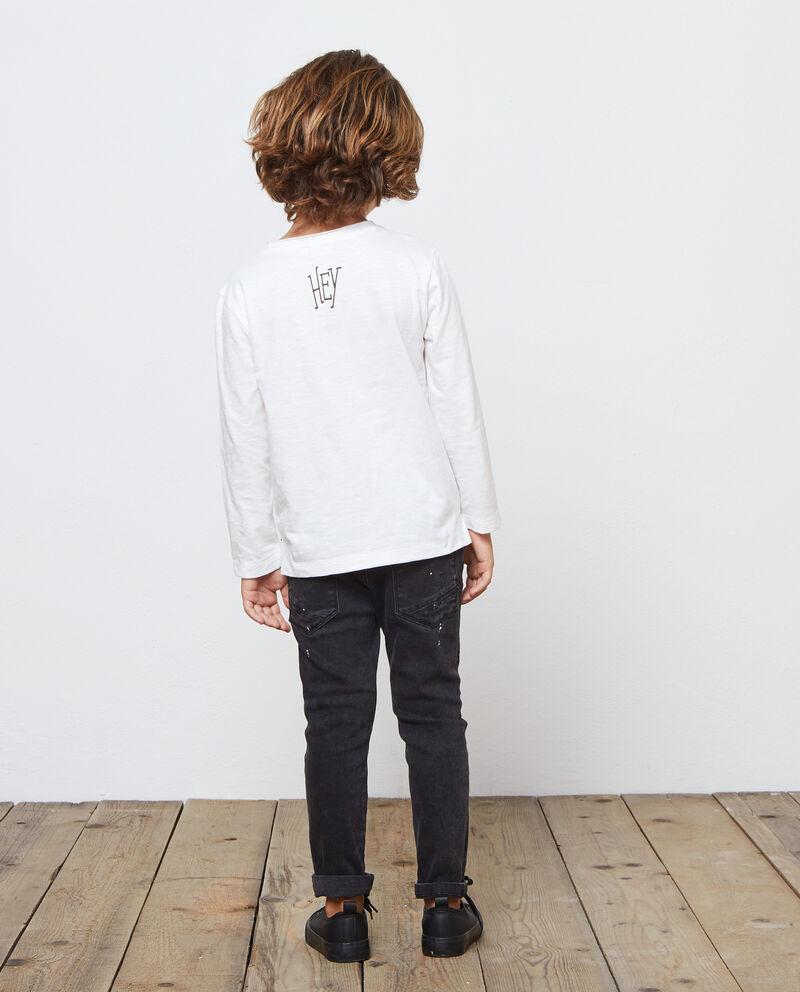 T-shirt girocollo maniche lunghe stampa