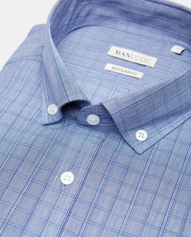 Camicia regular fit a manica corta a quadri single tile 1