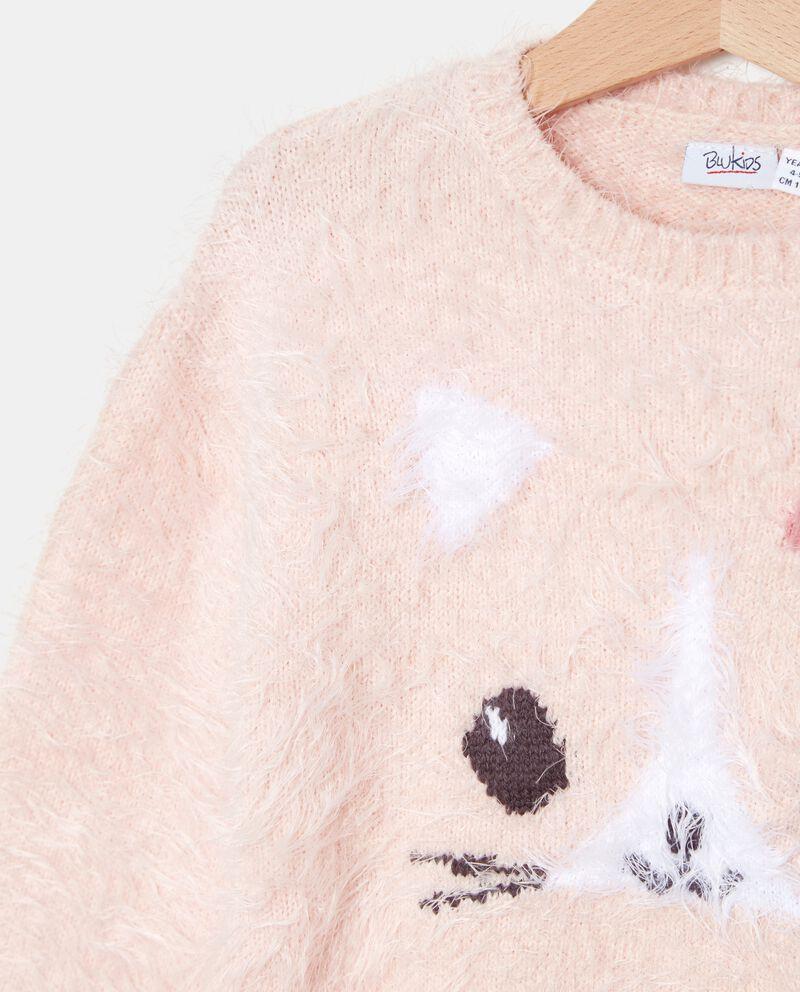 Maglione morbido con disegno bambina