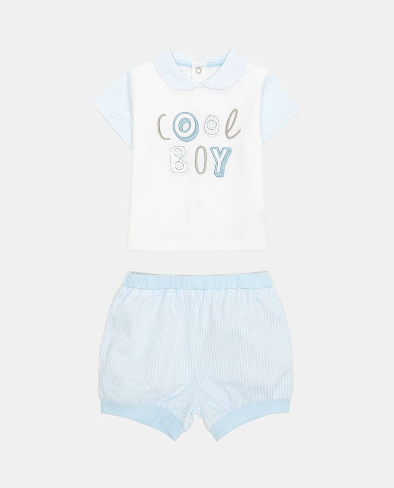Completino t-shirt e shorts a righe