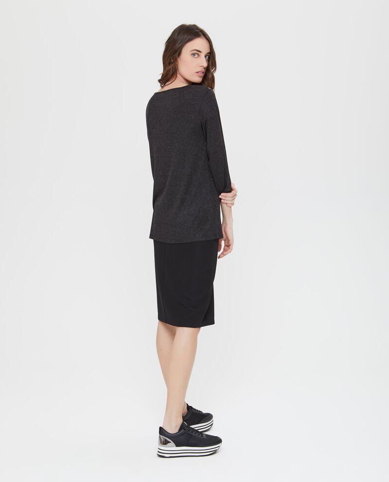 T-shirt stretch inserto semitrasparente