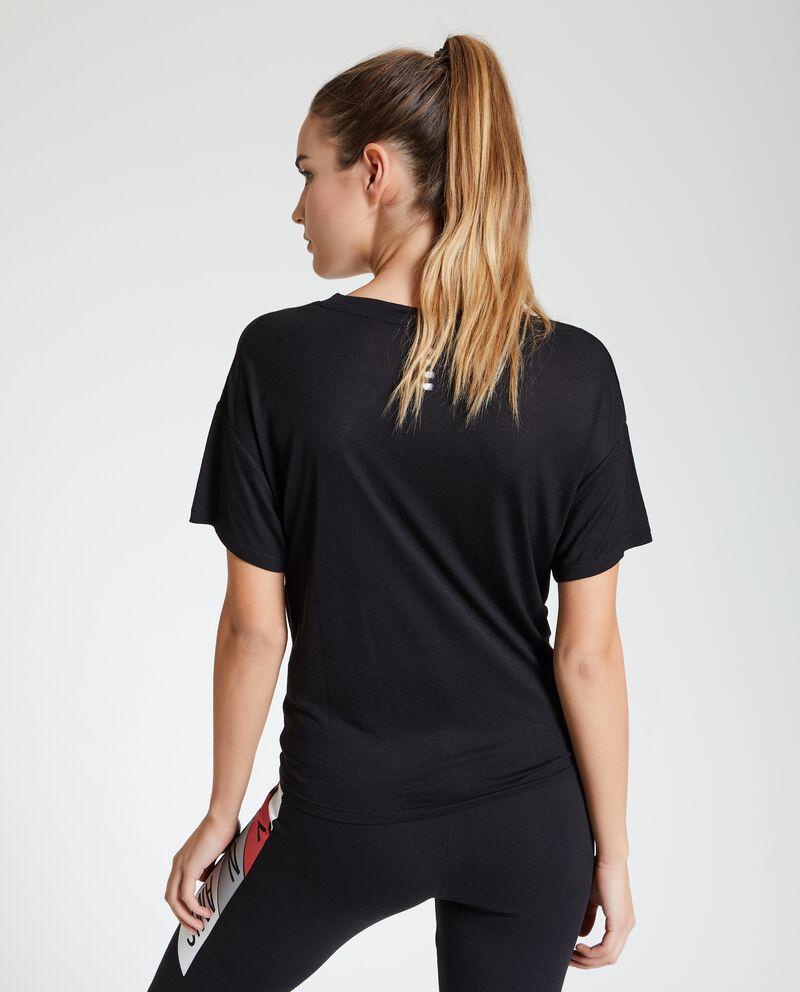 T-shirt Fitness con nodo donna