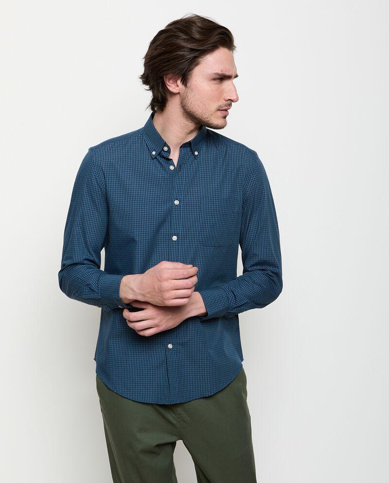 Camicia a quadri in cotone uomo cover