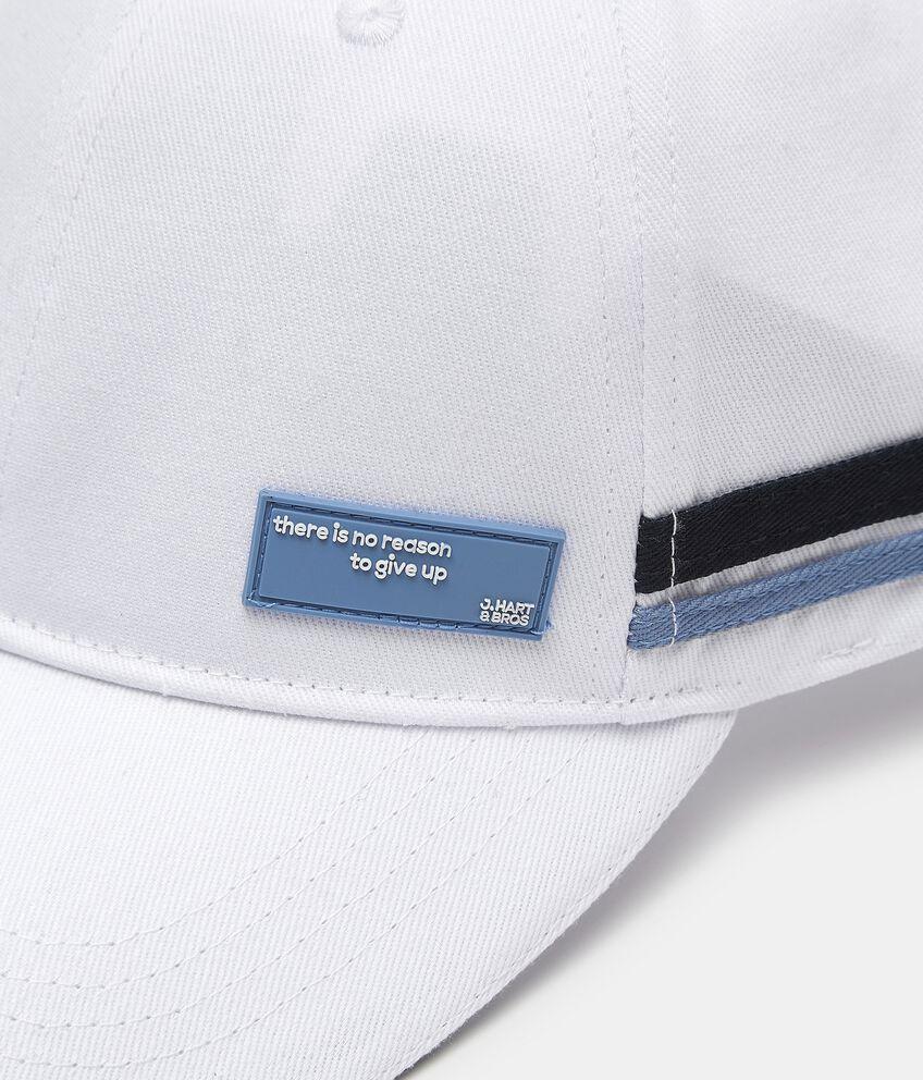 Cappellino da baseball con bande laterali in cotone uomo