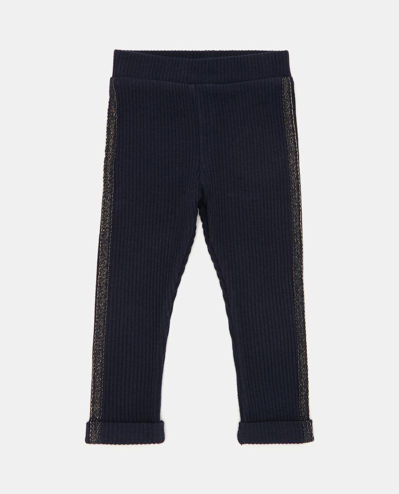 Pantaloni a costine con bande laterali neonata