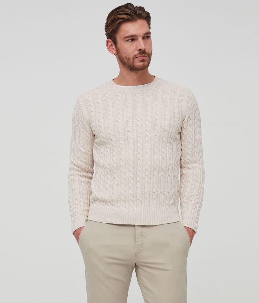 Pullover tricot trama intrecciata