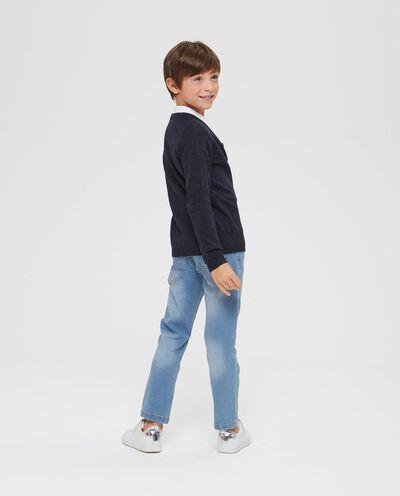 Cardigan tricot scollo a V