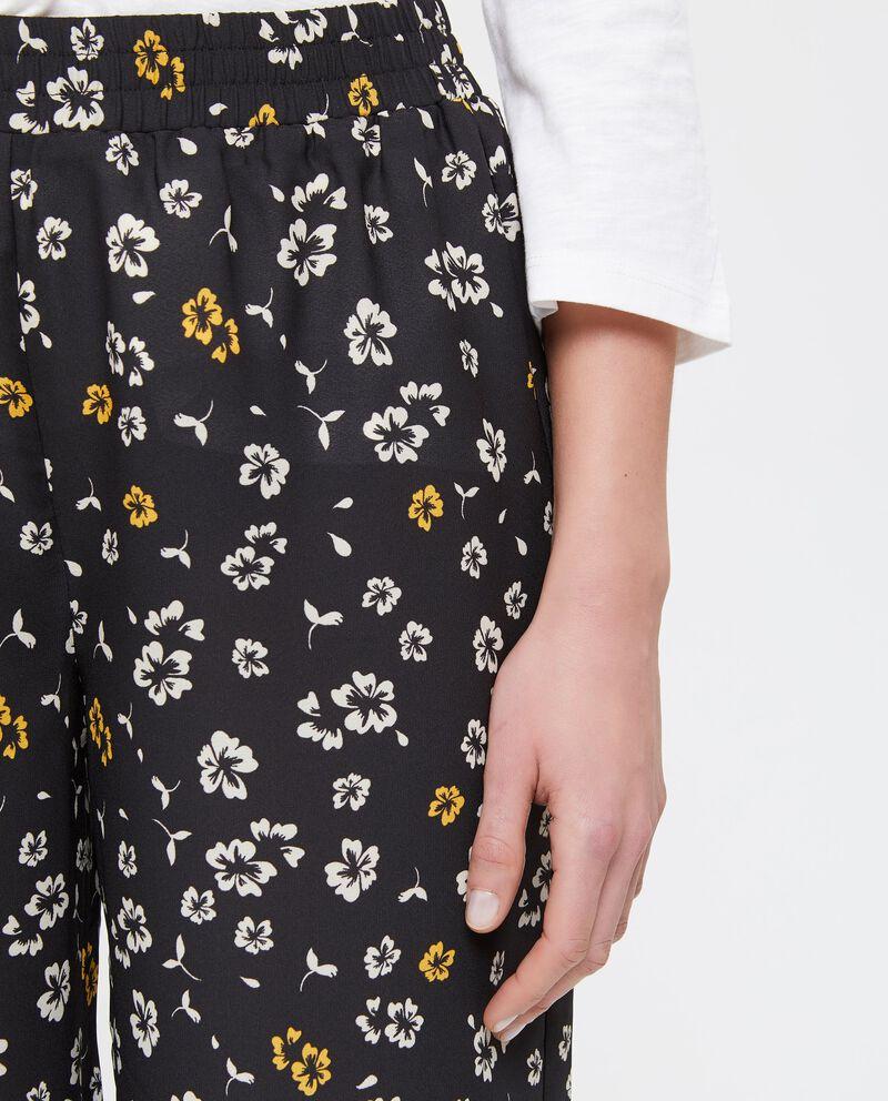 Pantaloni palazzo con stampa floreale