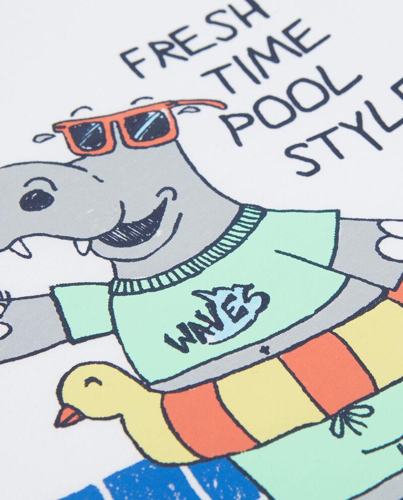 T-shirt in puro cotone con disegno piscina neonato