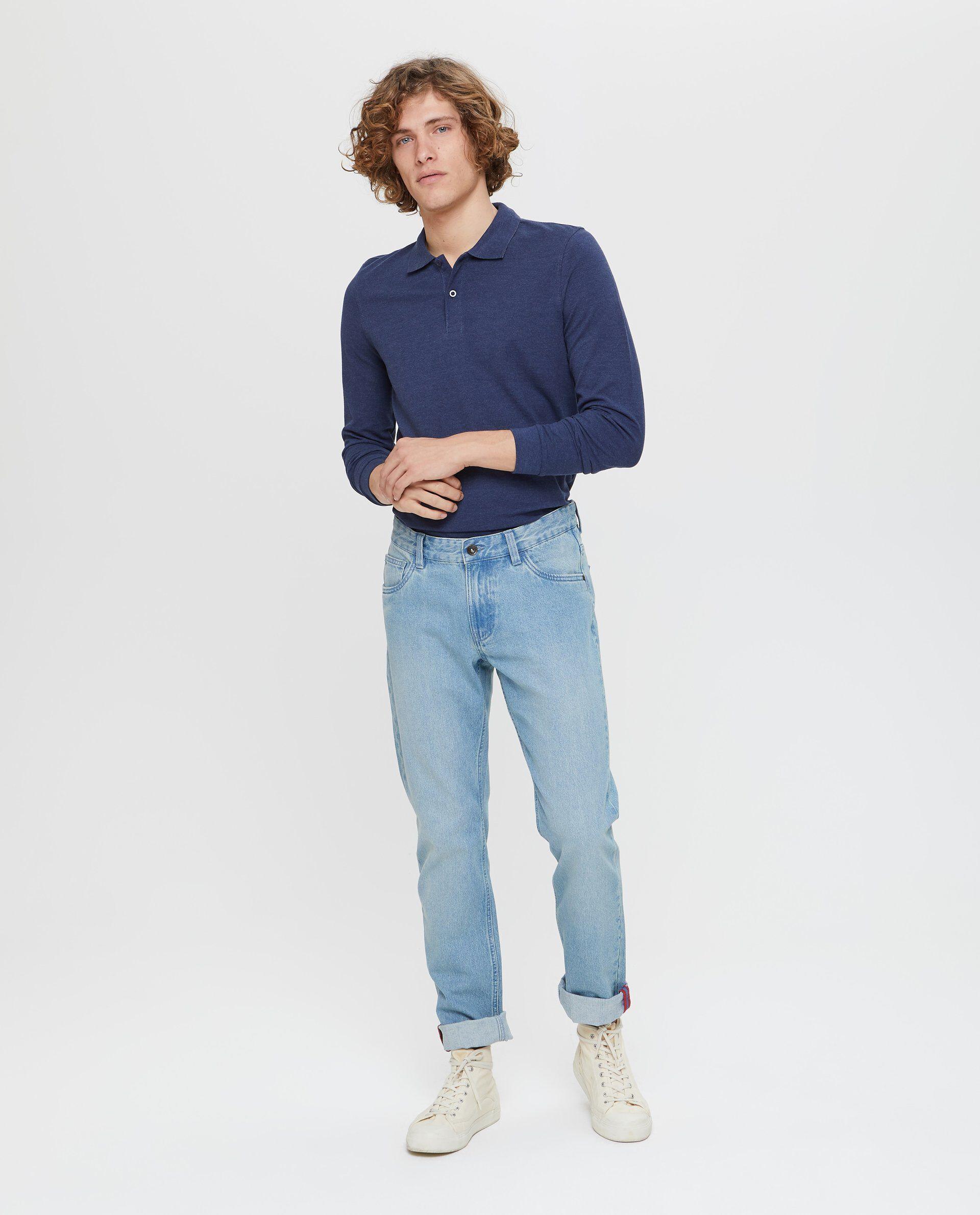 Jeans slim fit effetto delavato