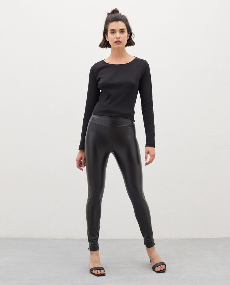 Leggings in eco pelle donna cover