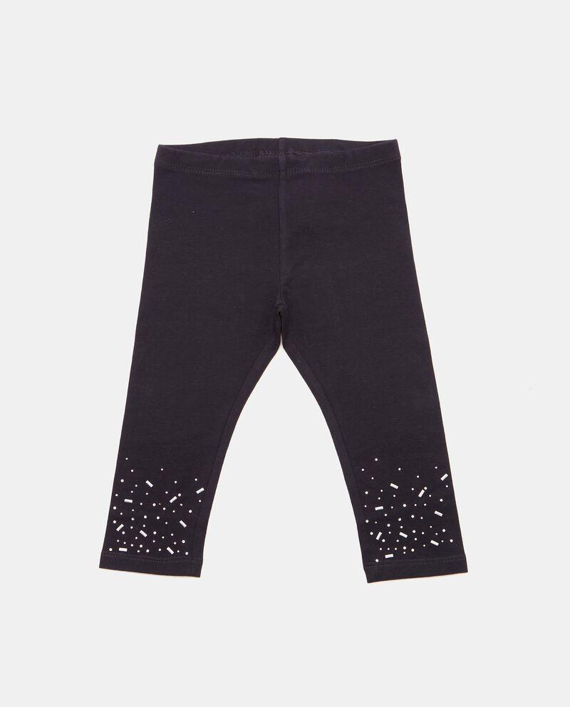 Leggings con strass in cotone biologico neonata