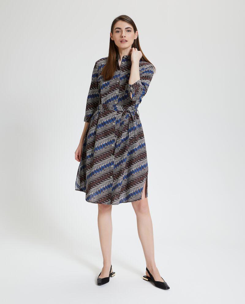 Abito in cotone misto lino donna