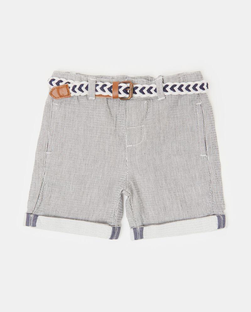Shorts con motivo a righe neonato