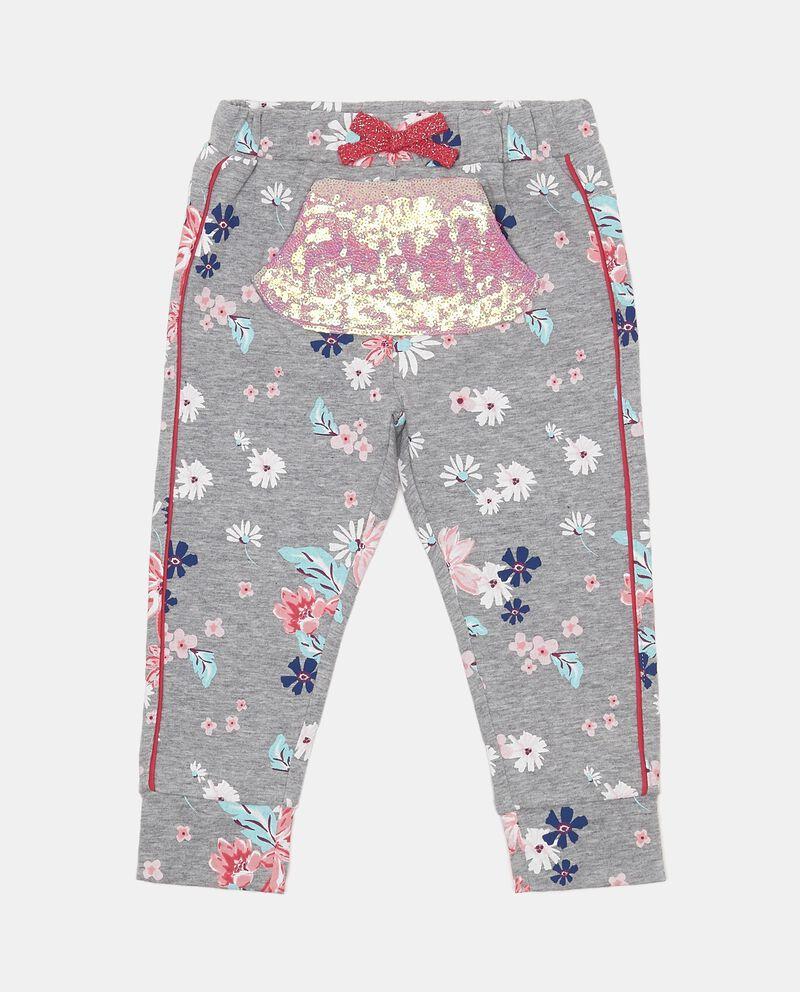 Pantaloni stretch con tasca paillettes