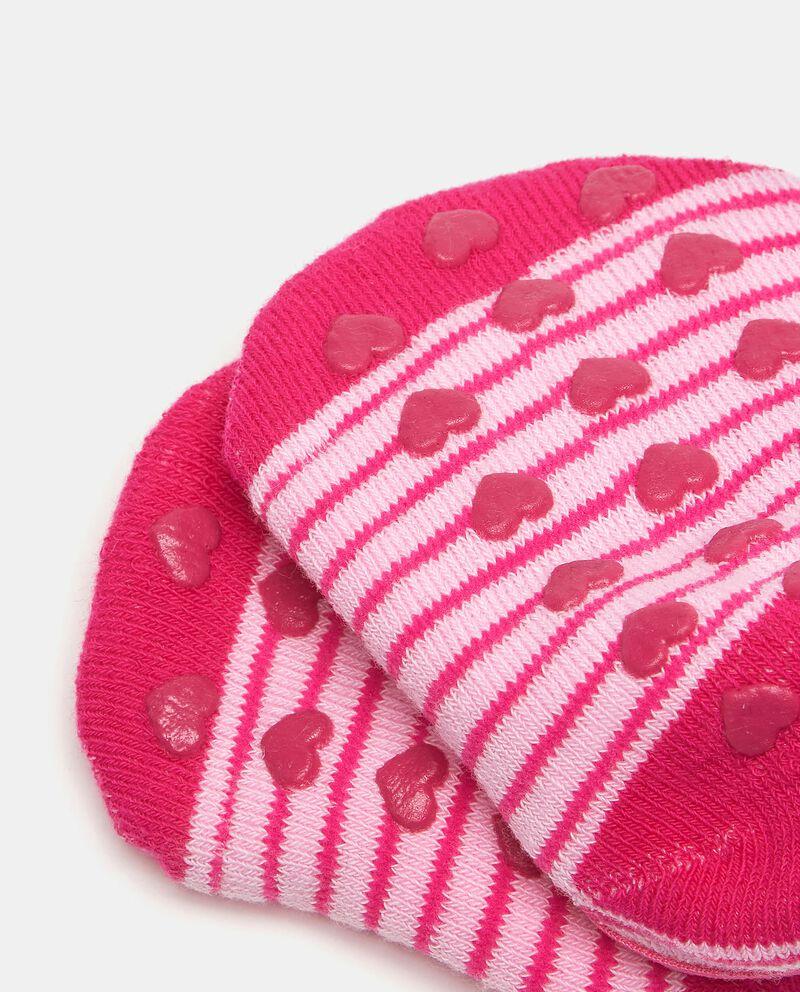 Calzini antiscivolo in cotone elasticato neonata single tile 1