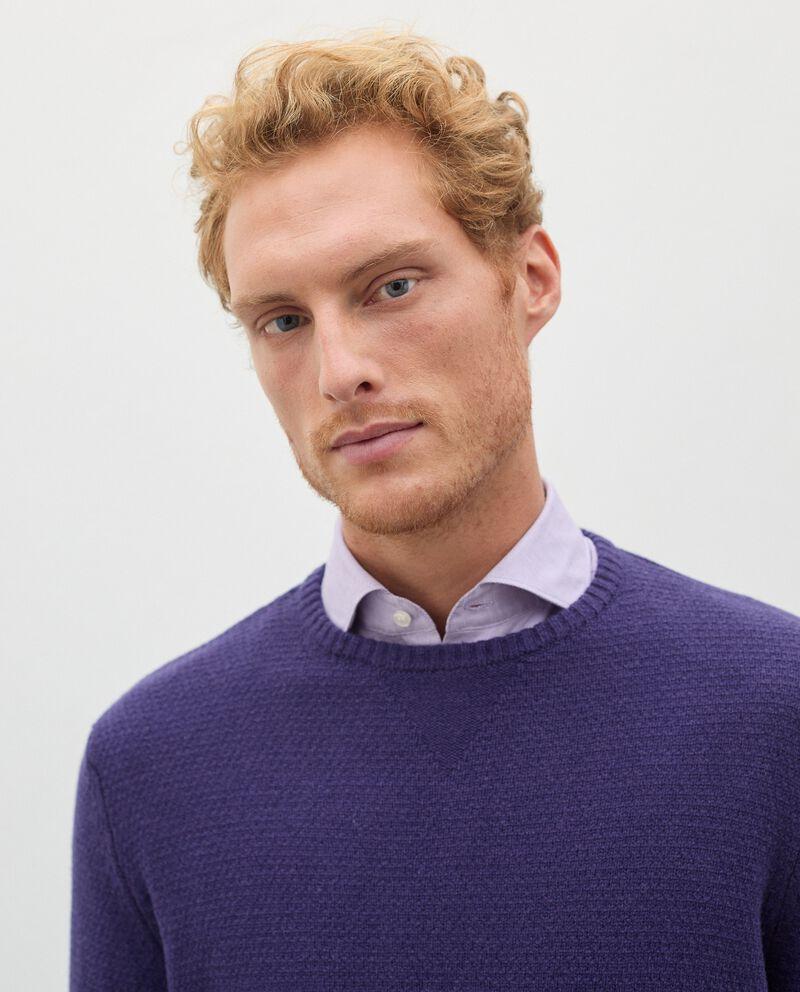 Pullover tricot in pura lana merino uomo single tile 2