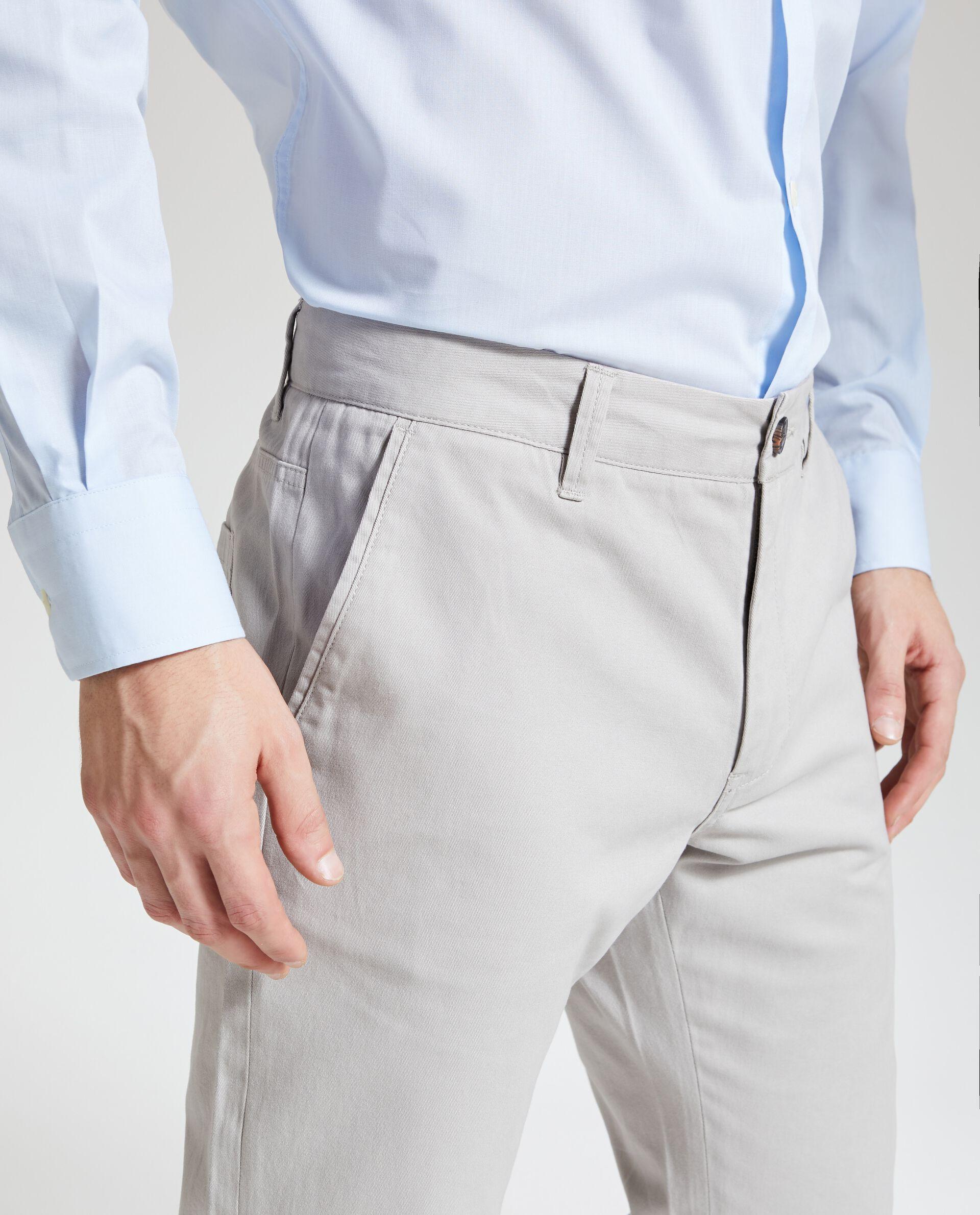 Pantaloni tinta unita puro cotone uomo