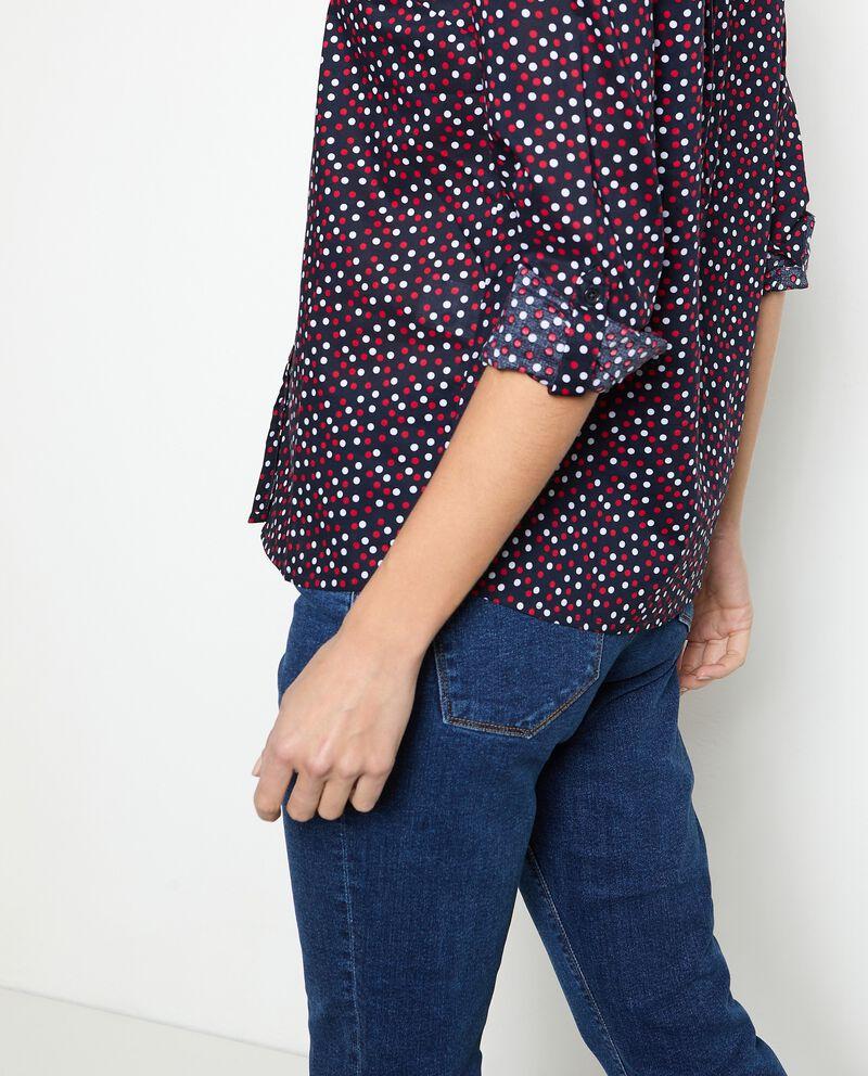 Camicia in puro cotone a pois donna