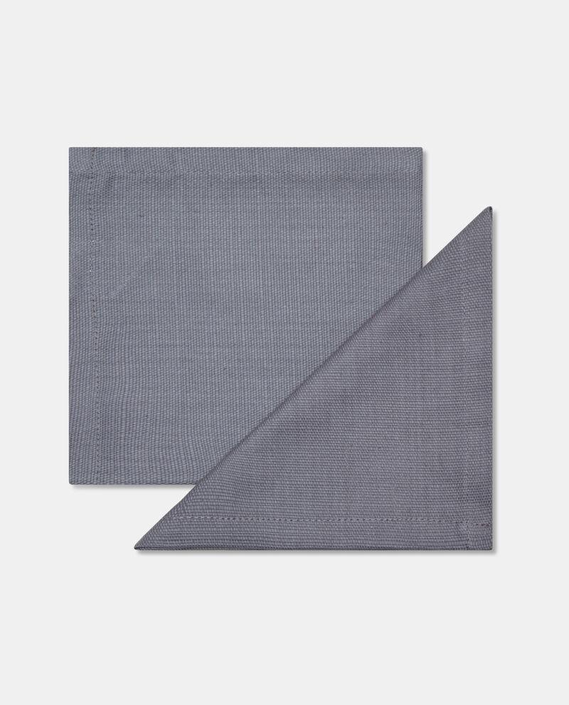 Set due tovaglioli cotone con trama
