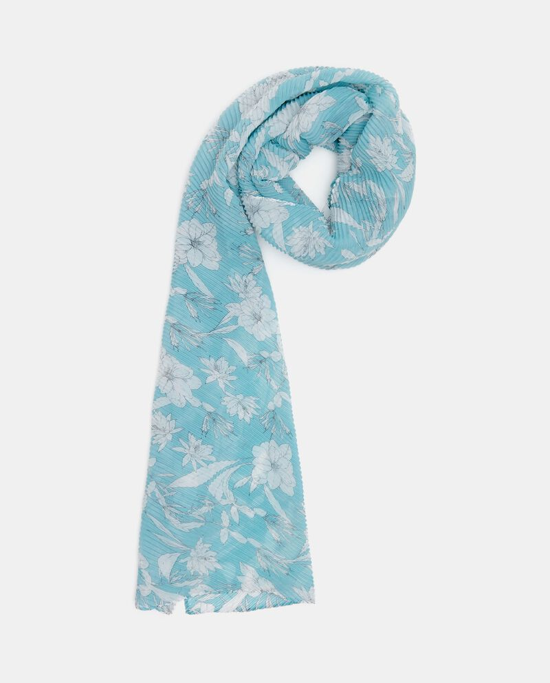 Sciarpa plissé con stampa floreale donna
