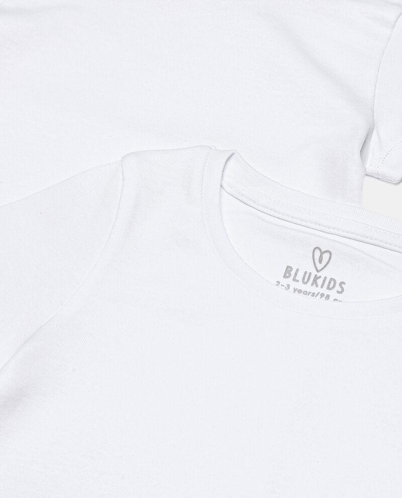 Pack con 2 t-shirt intime in cotone organico bambina single tile 1