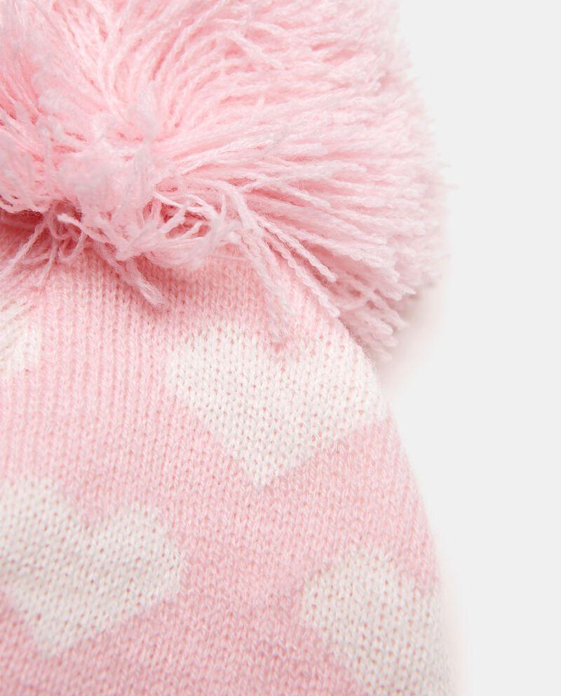 Cappello invernale con cuori