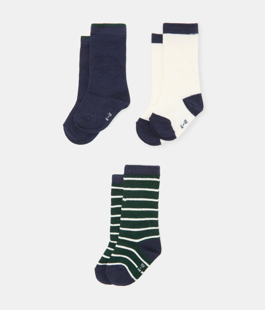 Pack con 3 paia di calzini di cotone organico neonata double 1
