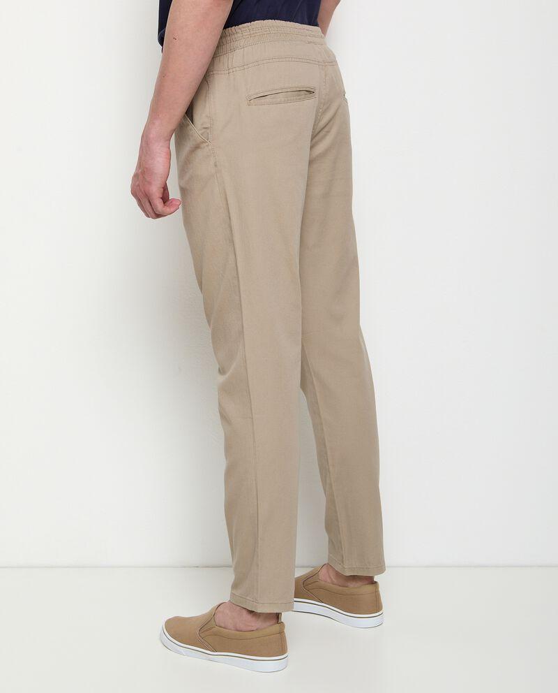 Pantaloni in puro cotone con coulisse uomo