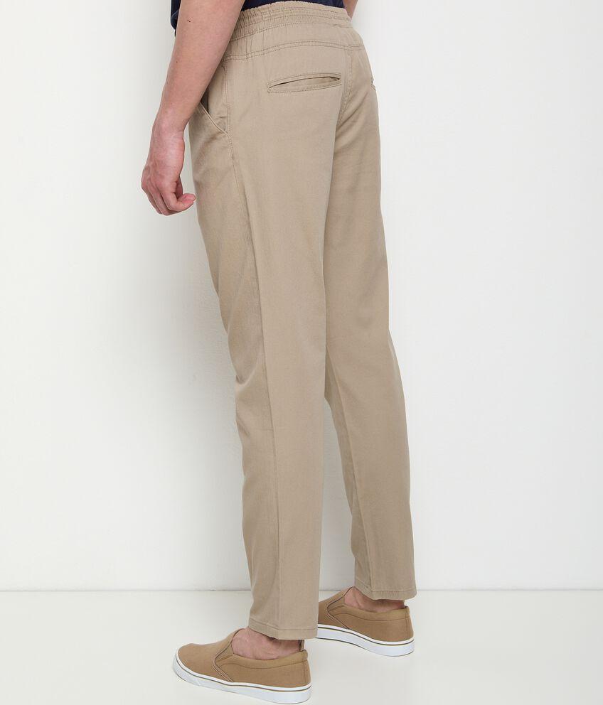 Pantaloni in puro cotone con coulisse uomo double 2