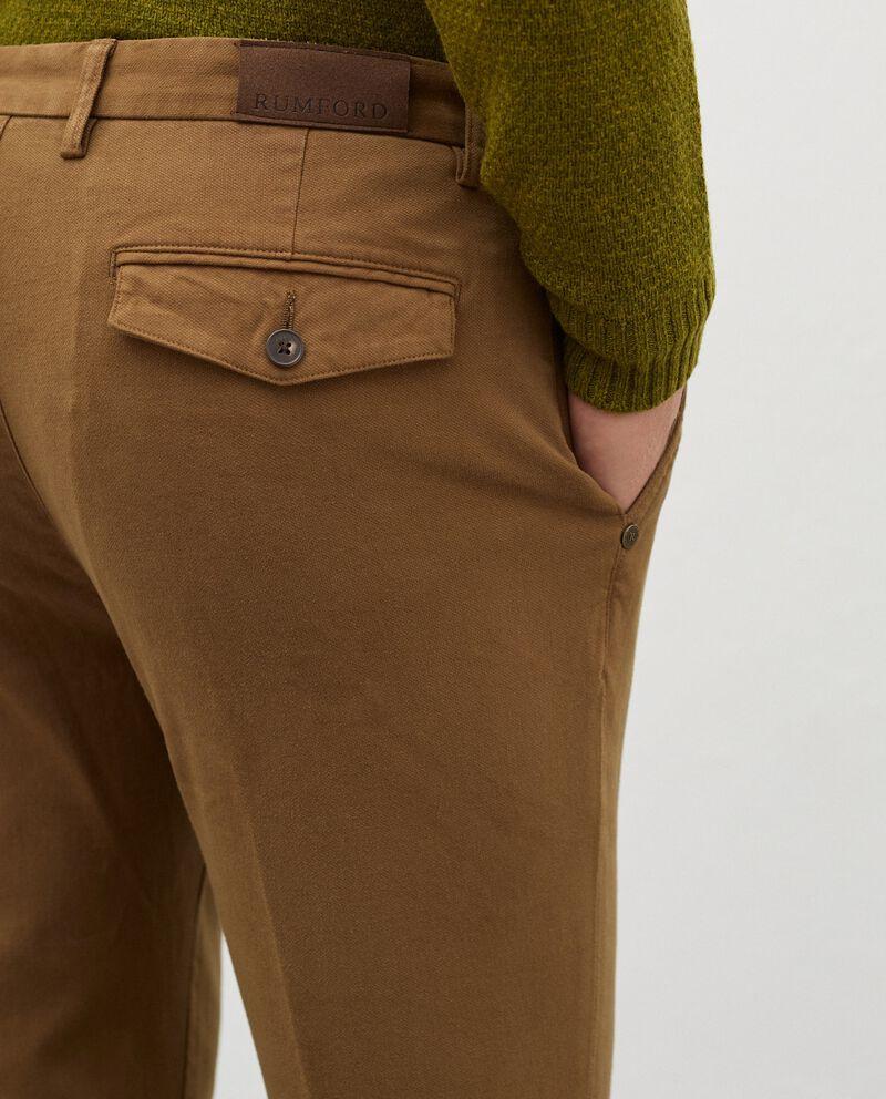 Pantaloni chino in cotone stretch uomo single tile 2