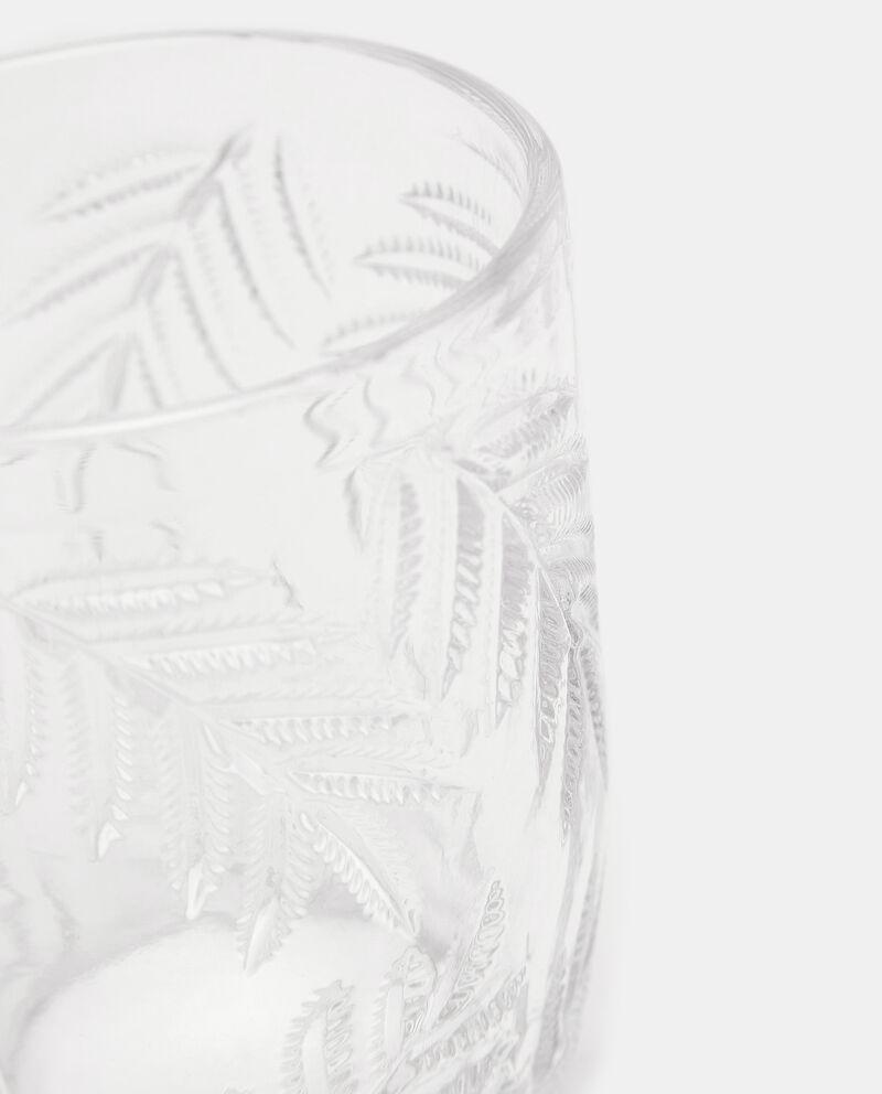 Bicchiere in vetro con foglie single tile 1
