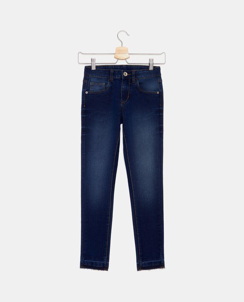 Jeans cinque tasche sfrangiati ragazza