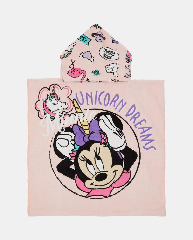 Asciugamano Minnie con capuccio neonata in puro cotone