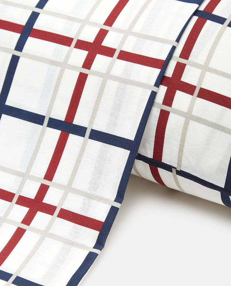 Lenzuolo con stampa quadri in puro cotone single tile 1