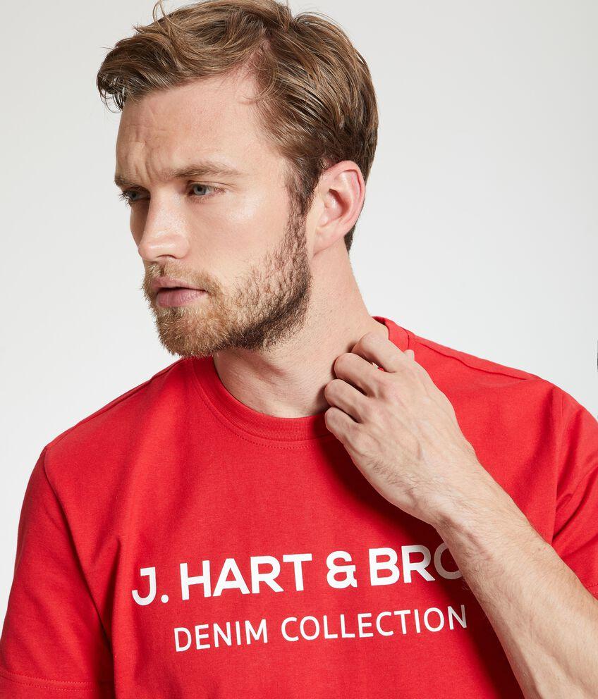 T-shirt con lettering in puro cotone uomo