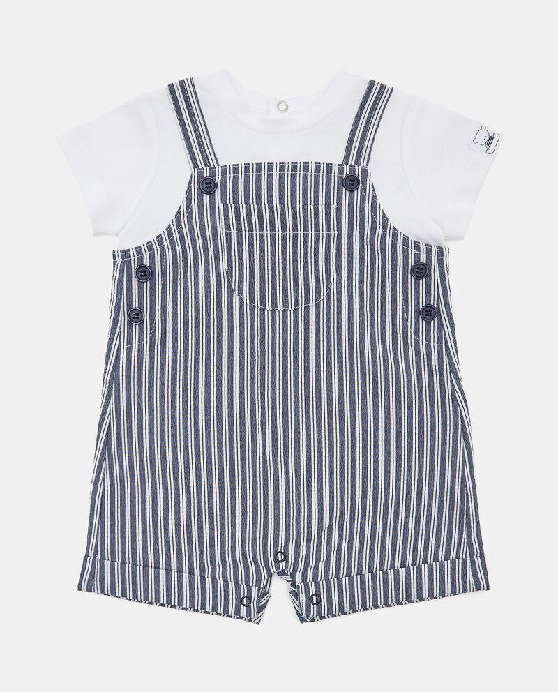 Pagliaccetto in cotone con finta t-shirt cover