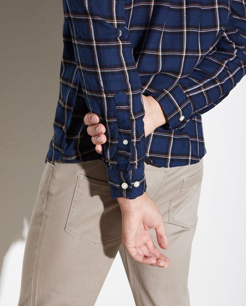Camicia in puro cotone a quadri regular fit uomo