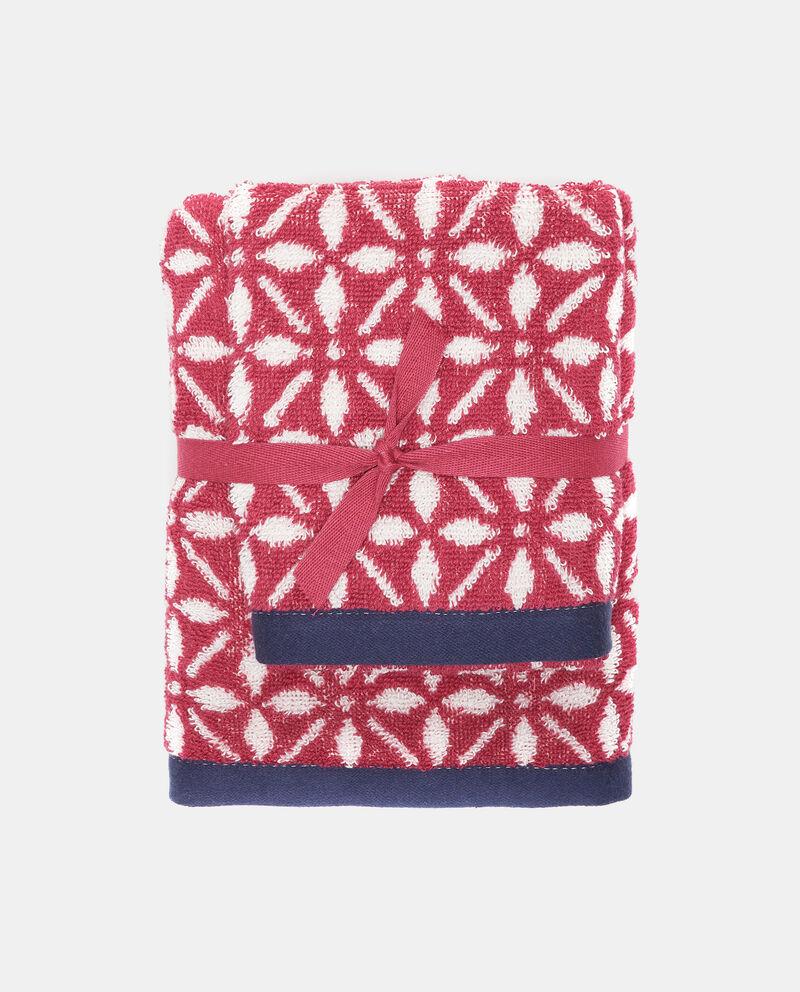 Set due asciugamani in puro cotone