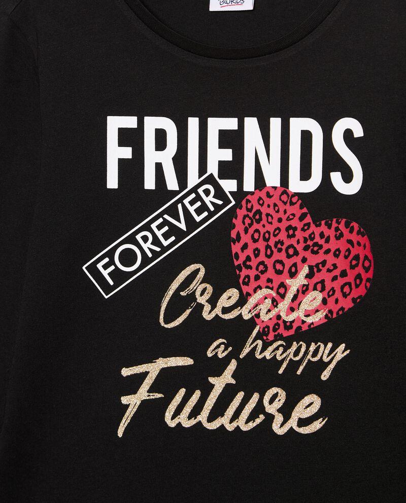 T-shirt in puro cotone biologico stampata ragazza single tile 1